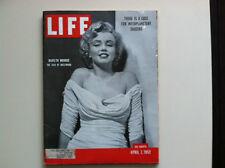 LIFE Magazine April 7, 1952 Marilyn Monroe Iconic Cover Vintage RARE!