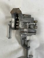 "VIntage Brinks & Cotton MFG. Co. 3"" Jaw Bench Vise Woodworking Machine Tool"