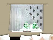AG2 Fertiggardine aus Voile Design Schöne Gardine Modern Blätter Fenstergardine