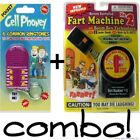 1 Fart Machine 2 with remote  1 Cell Phoney Prank Gag Key Chain  COMBO SET