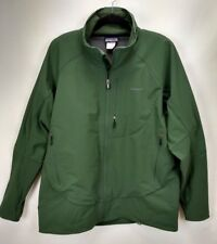 Patagonia Mens Softshell Jacket Size XL Forest Green Full Zip Water Resistant