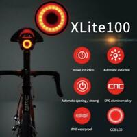 Bicycle Bike Rear Light Start/Stop Brake Sensing Waterproof Cycling Taillight