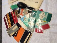vtg 1940's sewing notion tool pattern lace sock darner travel adv. sewing lot