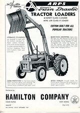 1967 Dealer Print Ad of Hamilton Co ARPS Twin Draulic Loader w Oliver Tractor
