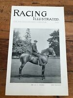 """1896 racing illustrated print """" mr r.c. vyner & horses going into railway boxs """""""