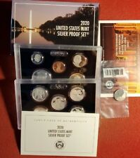 2020 US MINT SILVER PROOF SET 11 COINS ACTUAL SET SHOWN WITH NICKEL. T1553