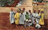 Cartolina Tripoli Guppo di piccoli beduini
