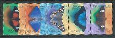 Australie 1998 papillons Bande de 5 Non montés excellent état, MNH