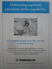 4/1991 PUB THOMSON CSF OPERATION DAGUET ATLIS TARGETING POD JAGUAR MIRAGE AD