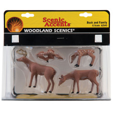 Woodland Scenics – Scenic Accents – G Scale – Buck and Family Plastic Figures