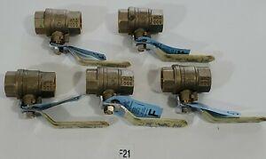 "*NEW* LOT OF 5 Apollo 94ALF-104-01A Brass Ball Valve Inline 3/4"" NPT + Warranty!"