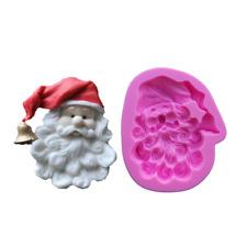 Big Padre Navidad Santa Claus silicona molde Pastel Glaseado moho M213