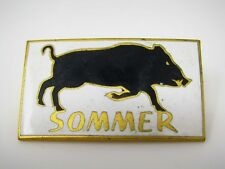 Vintage Collectible Pin: SOMMER Pig Hog