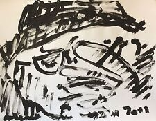 ART Brut  signature illisible ? Gouache 64,5 cm x 50 cm       a.