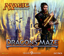 MAGIC THE GATHERING MTG DRAGON'S MAZE FAT PACK FACTORY SEALED 9 PACKS NEW