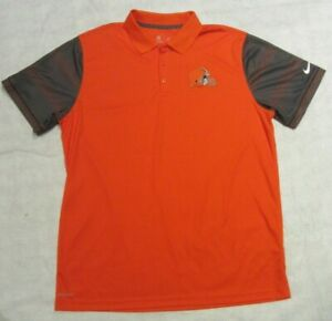 Nike Dri-Fit Polo NFL On Field Apparel Cleveland Browns Mens XL NWOT 746181