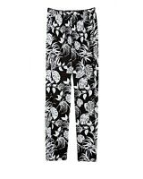 * NWT Vince Camuto Stencil tropical pull on pants Black Small