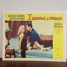1958 I Married a Woman Movie Lobby Card Blue Chaise