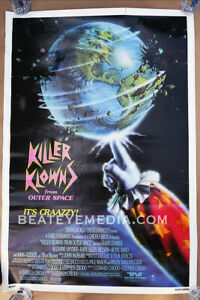 Killer Klowns Outer Space,clown,Circus-MOVIE POSTER-HORROR-SCI FI,-MONSTERS-CULT