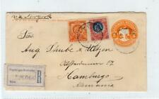 MEXICO: 1908 Registered postal stationery envelope to Germany (C44044)