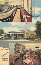 RAWLINS WY ADAMS RESTAURANT VIEWS 1947 LINEN POSTCARD