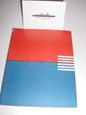 SS UNITED STATES LINES  First-Class Passenger List...1957  /  Top Condition