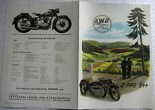 PROSPEKT Werbung DATENBLATT Motorrad Simson AWO 425 aus Suhl 42cm x 29cm
