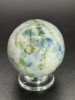"Handmade Bennington Marble Large Fancy Bennington Marble Clay Marble 1.142"""