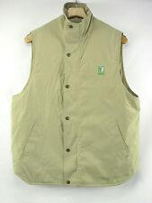 NIKKEN Magnatic Therapy Thermowear Beige Polyblend Zip Snap Vest Men's M T3