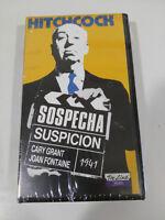 Hitchcock Sospetto Suspicion Cary Grant Fontaine VHS Nastro Castellano New Nuovo