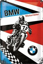 BMW Motocyclette Panneau en tôle 20x30 cm - Moto Vélo Motard Signe 22232