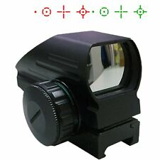 UUQ Tactical Holographic Red Green Dot Reflex Scope Sight 4 Reticles