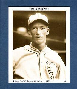 #38 LEFTY GROVE, 1925 Athletics/A's (1981 THE SPORTING NEWS Conlon Collection)