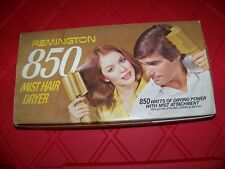 Vintage Remington 850 MIST HAIR DRYER W/ ATTACHMENTS 1973