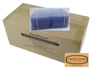 50  - GuardHouse Round Corner  2.5 X 2.5  Plastic Coin Flips, NON PVC - #10359