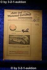 Auto und Motorrad Zeitschrift Nr. 15-16/50  20.4.1950 Der Auto Markt