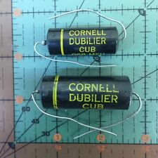 500pf 600v Cornell Dubilier Axial Film Capacitor Cub6t5 5nf Vintage Audio
