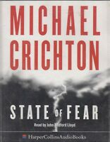 Michael Crichton State Of Fear 4 Cassette Audio Book Abridged Techno Thriller