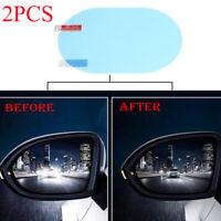 Car Anti-glare Anti Fog Rainproof Rearview Mirror Film Cover Trim Accessories x2