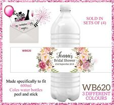 BOHO ENGAGEMENT WEDDING BIRTHDAY BABY SHOWER BRIDAL SHOWER WATER BOTTLE LABELS