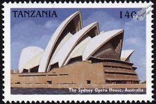 SYDNEY OPERA HOUSE (Australia) Modern Architecture Building Stamp/1997 Tanzania