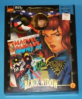 "MARVEL FAMOUS COVERS 8"" BLACK WIDOW AVENGERS 1998 Mego Style Action Figure MIB"