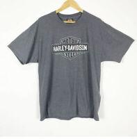 Harley Davidson XL T-Shirt Mens Gray Graphic Indianapolis Southside Short Sleeve