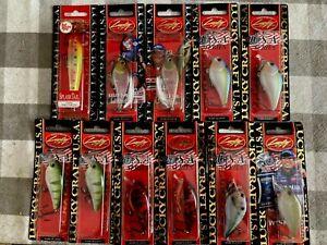 Lucky Craft Crankbait lot for Bass 1.5 Squarebills, SplashTail, Kelly J topwater