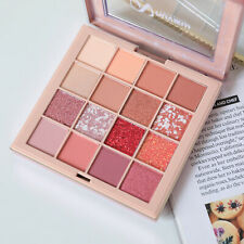 NUVIEW Rose Matte Shimmer PRO NUDE Red Eyeshadow Palette Makeup 16 Colors