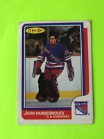 JOHN VANBIESBROUCK O-Pee-Chee NHL Hockey Card #9 1986-87