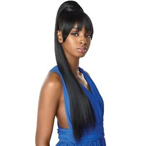 """SENSATIONNEL SYNTHETIC DRAWSTRING PONYTAIL INSTANT PONY AND BANG - CAMI 30"""""""