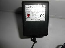 Power supply 7.5v 230mA 2.5mm x 0.7mm approx positive centre power jack