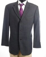 HUGO BOSS Sakko Jacket Einstein Gr.52 grau kariert Einreiher 3-Knopf -S564