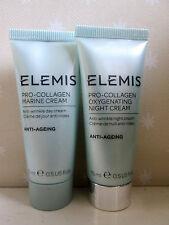 Elemis Pro-Collagen Marine Day Cream 15ml & Oxygenating Night 15ml  New & Sealed